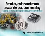 TI가 전원 공급 장치, 여자 증폭기 및 기능 안전성 기능을 통합한 업계 최초의 리졸버 센서 인터페이스 IC를 출시한다