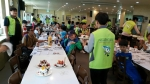 사회복무요원(가온누리 봉사단체)들이 지역아동센터 아동들과 케익만들기