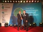 잭 챙 C.H. 로빈슨 아시아 글로벌 포워딩 부사장, AFLAS 어워드에서 최우수 항공화물 물류서비스 제공업체 수상