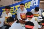 맞춤형보육 제도개선 및 시행연기 촉구를 위한 단식투쟁에 돌입한 한국어린이집총연합회 정광진 회장