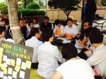 긴급 당연직이사회를 소집해 보건복지부 협상안에 대해 최종 논의하는 한국어린이집총연합회 회장 정광진