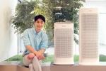 삼성전자 모델이 6일 삼성전자 수원사업장 생활가전사업동 프리미엄하우스에서 실내 공기의 오염 상태를 사용자에게 소리로 알려주는 블루스카이 세이프티 에디션 공기청정기를 소개하고 있다
