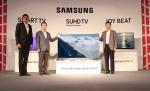 삼성전자 인도법인에서 미디어 약 160명이 모인 가운데 2016 삼성 SUHD TV 런칭 이벤트를를 개최하고 최고의 화질을 구현한 퀀텀닷 SUHD TV와 인도 시장 특화 모델인 조이 비트 TV 를 선보이고 있다