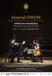 Festival Owon이 11일부터 17일까지 프랑스의 라 부르데지에 성과 쇼몽 성에서 열린다