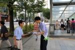 노사발전재단이 20일 장년근로자의 평생현역준비를 위한 거리캠페인을 서울, 부산 등 전국 12개 지역에서 동시다발로 진행했다