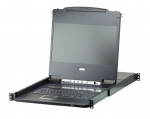 에이텐코리아가 1920X1080 Full HD의 고해상도 비디오 품질을 지원하는 LCD 일체형 KVM스위치 CL6708MW를 출시한다