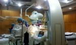 각 병원의 인터벤션 전문가들이 모여 교육 병원의 특화된 시술을 참관하고 있다