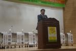 환영사를 하는 정광진 한국어린이집총연합회장