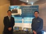 서울 삼성동 호텔에서 열린 기자간담회를 통해 TBS2000 국내 출시를 알렸다(왼쪽 -한국텍트로닉스 양석용 대표,  오른쪽Mr. Hua Ji 중국텍트로닉스 제품생산기획 매니져)