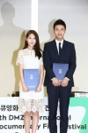 Kang Ha-neul and Gong Seung-yeon, Honorary Ambassadors of The 8th DMZ International Documentary Film Festival at press conference
