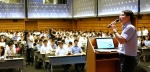 대한상공회의소와 김앤장 법률사무소가 18일 세종대로 상의회관에서 공동개최한 '김영란법 시행과 기업 대응과제 설명회'에서 조두현 국민권익위원회 법무보좌관이 '법령 주요내용'에 대해서 설명하고 있다