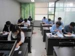 한국기술개발협회가 제7회 기업 R&D 지도사 자격검정시험 1차 필기시험을 진행하고 있다