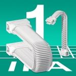상/하부 결합으로 완전 밀폐가 가능한 초경량 주름 튜브 e-skin은 IPA 1클래스의 e체인 시스템으로 클린룸 적용에 적합하다(사진제공 igus GmbH)