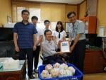 사랑의 동전모으기 캠페인에 참여한 합천삼가중학교(교장 이경구)