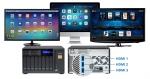 한성SMB솔루션이 썬더볼트 인터페이스 기반의 기업용 NAS시스템 QNAP NAS TVS-x82T 시리즈를 26일 공개했다