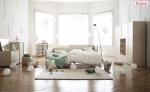 가족 생애 주기에 따라 유연하게 변화해 신혼 침실, 패밀리 침실, 그리고 아이의 독립된 침실까지 커버할 수 있는 일룸 패밀리 베드 쿠시노