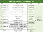 KOTERA 정책자금 평생교육원 9월 특별 세미나 일정표