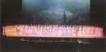 2011년 5월 24일 세종문화회관 대극장에서 가진 황용주 예악생활 55주년 기념 공연의 한 장면으로 앞줄 오른쪽 장구 맨 이가 황용주 선생