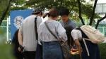 통일좋아요가 숭실대학교에서 캠페인을 진행하고 있다