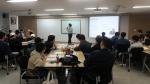 김지희대표가 사회복무요원들에게 분노조절을 강의하고 있다