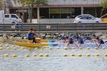 제1회 해양수산부 아시아드래곤보트대회에 참가한 선수들이 힘차게 패들링을 하고 있다