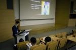 2016 영상의학과 전공의 연수강좌에서 김건우 원장이 정맥류 질환에 대한 색전술 치료에 대해 발표하고 있다