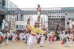 제57회 한국민속예술축제에 참가하고 있는 경상남도 솟대쟁이 놀이