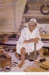 寧日, 163x112cm, 한지‧수묵‧채색, 1976년 作