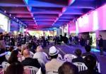 낙원악기상가 1층 공간에서 진행된 개막식 현장 사진. 5일, 세계 최대 악기상점 집결지 낙원악기상가가 예술의 옷을 입었다