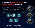 TI가 5종의 새로운 USB 타입-C 및 PD (Power Delivery) 제품을 출시한다