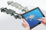 레일 및 캐리지를 원하는 디자인과 재질로 설계할 수 있는 drylin ZLW 모듈 시스템
