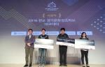 왼쪽부터 마카롱팩토리 대표 김기풍, 중앙 액션크레프트 대표 오세기, 클레비 대표 윤미선