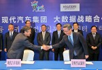 현대자동차는 8일 구이저우성 구이양시 국제생태회의센터에서 천민얼 구이저우성 당서기와 정의선 부회장을 비롯 양측 관계자들이 참석한 가운데 현대차 빅데이터센터 구축을 위한 전략 합작 협의서를 공식 체결했다
