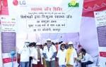 LG전자는 최근 인도 NGO 단체인 스마일 파운데이션과 함께 모기퇴치 캠페인을 진행했다