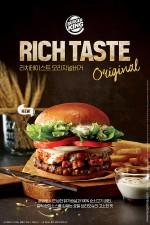 버거킹이 2016년 겨울 한정 신제품 2종 리치테이스트 스테이크버거와 리치테이스트 오리지널버거를 출시했다