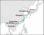 현대상선이 23일 국적선사 최초로 한국-베트남 다낭 직기항 서비스를 개설했다