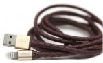 Amuse X Asamo Collaboration Cable은 내구성이 강한 메탈릭 커넥터에 가죽타입의 이탈리안 인트레치아토 스타일이 특징이다
