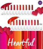 홀리카 홀리카가 사랑스러운 하트 모양의 립스틱이 달콤 상큼한 입술로 표현해주는 하트풀 립스틱 신제품 20종을 선보인다