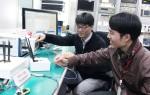 지난달 29일 LG전자 서초 R&D 캠퍼스에서 LG전자 연구원과 연세대학교 연구원이 80MHz 대역폭의 광대역 다중안테나(MIMO, Multiple Input Multiple Output) 기반 FDR 통신기술을 시연하고 있다