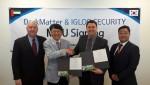 이글루시큐리티가 UAE 보안 기업 다크매터와 보안관제 서비스 수출 MOU를 체결했다