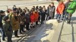 한국청소년연맹 전통문화 기능연수에 참가하고 있는 교사들