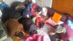한국보건복지인력개발원 광주교육센터가 21일 각화동에 거주하는 독거노인 및 장애인 세대를 찾아 설 맞이 새배를 했다
