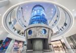 ICM가 모스크바 오세아니아 몰에 엘리베이터 갖춘 세계 최장 실린더형 아쿠아리움을 완공했다