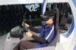 미래 자동차 학교에 참여한 원주대성중학교 학생이 한국잡월드 현대자동차 체험관에서 WRC대회 가상 레이싱 체험을 하고 있는 모습