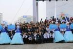 제 28회 알마티동계유니버시아드대회에 참가하는 대한민국 선수단이 현지시간으로 28일 오후 12시 선수촌 중앙광장에서 선수단 입촌식을 갖고 본격적인 대회 일정을 시작했다