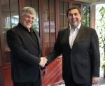 호텔베드 그룹의 호안 빌라 회장과 투리코 홀리데이의 우리 아르고브 CEO