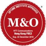 NTT 커뮤니케이션즈 홍콩 금융 데이터센터 타워2(FDC2), 업타임 인스티튜트 매니지먼트&오퍼레이션 인증 획득