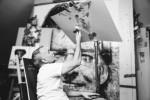 캐나다의 천재적인 화가 스티븐 스파주크가 지포 방풍 라이터의 불꽃을 이용해 놀라운 작품을 창조한다