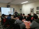 동명대 창의설계엔지니어양성사업단 재학생들이 미국서든일리노이주립대학에 방문한 모습