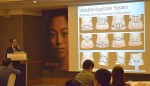 Dr. Miyata 박사가 스컬프슈어 유저 미팅에서 강연을 하고 있다